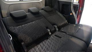 リクライニング角度はどのくらい?トヨタ タンク/ルーミーの後部座席