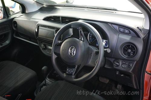 今回新発売されたヴィッツ ハイブリッド(Vitz Hybrid)の人気モデル. Fグレードの内装・インテリアは、このようになっていました。