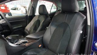 内装が全く違う雰囲気に?新型カムリの純正シートカバーを実車画像で確認